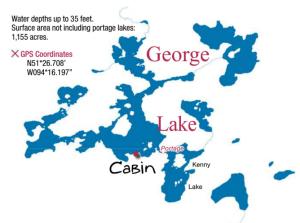 george lake map